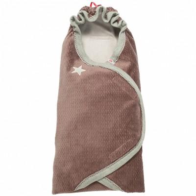 Couverture nomade nouveau né marron wrapper newborn american fifties