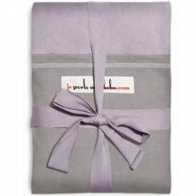 Echarpe de portage l'originale lavande poche gris clair
