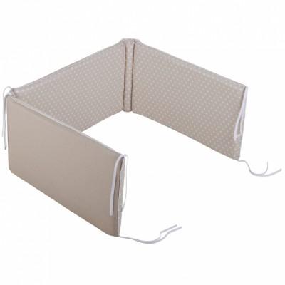 Tour de lit bébé Etoile beige pour lits 60 x 120 et 70 x 140 cm