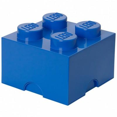 Pics photos lego boite de rangement 2 plots bleue brique - Boite de rangement empilable ...