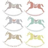 Sticker petits chevaux de bois - Art for Kids
