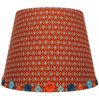 abat jour retro vintage orange pour suspension 35 x 28 cm. Black Bedroom Furniture Sets. Home Design Ideas