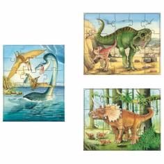Set puzzle Mes 3 puzzles Dinosaures (45 pi�ces) - Haba