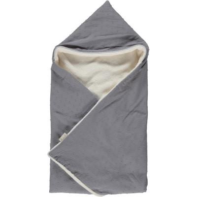 Couverture cape plumetis auguste grise (70 x 70 cm)