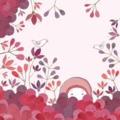Tableau O� es-tu Rose? By Elodie Pasagrimaud (50 x 50 cm) - Lilipinso