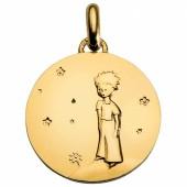 M�daille Le Petit Prince sur sa plan�te 18 mm (or jaune 750�) - Monnaie de Paris