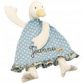 Doudou plat Jeanne le canard personnalisable La Grande Famille  - Moulin Roty