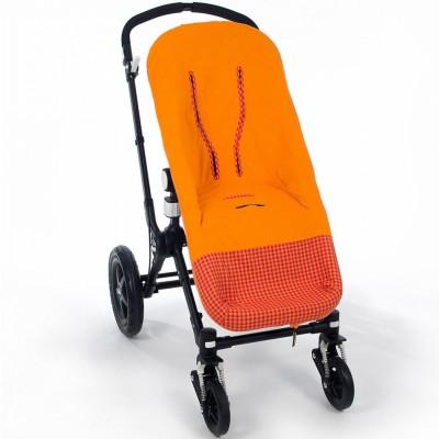 Chancelière 2 en 1 été happy fluor orange pour poussette