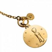 Bracelet Le Petit Prince sur sa plan�te et breloque diamant (or jaune 750� et diamant) - Monnaie de Paris