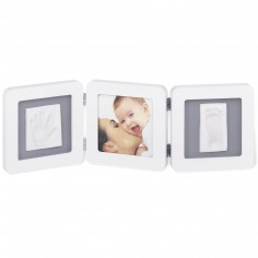 Cadre photo empreinte Baby Art Double Print Frame blanc - Baby Art