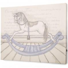 Tableau cheval � bascule Il �tait une fois (50 x 40 cm) - Mamas and Papas