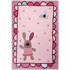 Tapis 3 Happy Friends Coeurs (120 x 180 cm) - Sigikid Tapis