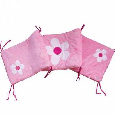 tour de lit flora pour lits 60 x 120 cm et 70 x 140 cm doux nid tour de lit adaptable 60. Black Bedroom Furniture Sets. Home Design Ideas