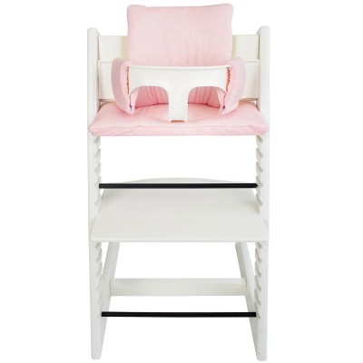 assise pink bows pour chaise haute stokke tripp trapp. Black Bedroom Furniture Sets. Home Design Ideas