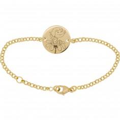 Bracelet Pr�cieuse 13,5 cm (or jaune 750�) - La F�e Galipette