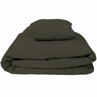 housse de couette et taie d 39 oreiller uni vert kaki 120 x 150 cm cottonbaby housse taie. Black Bedroom Furniture Sets. Home Design Ideas