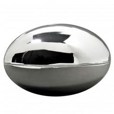 Tirelire Ballon de rugby (m�tal argent�) - Orf�vrerie de Cr�vigny