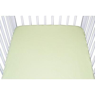 Drap housse jersey vert anis (40 x 80 cm)
