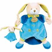 Doudou marionnette Pinou le lapin (25 cm) - Doudou et Compagnie