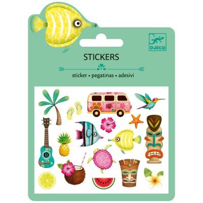 Minis stickers motifs hawaï