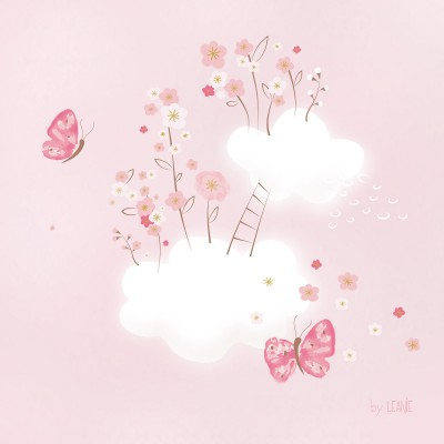 Tableau cherry blossom by leanie nuages en fleurs (30 x 30 cm)