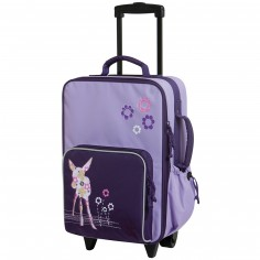 Valise trolley Faon parme - L�ssig