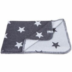 Couverture Star gris anthracite et gris (100 x 130 cm) - Baby's Only