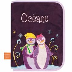 Prot�ge carnet de sant� Pingouins c�lins (personnalisable) - L'oiseau bateau