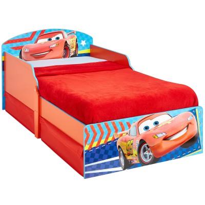 lit enfant cars avec tiroirs de rangement 70 x 140 cm. Black Bedroom Furniture Sets. Home Design Ideas