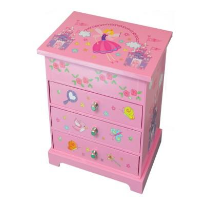 bo te bijoux musical 3 tiroirs fille robe et accessoires trousselier boite bijoux. Black Bedroom Furniture Sets. Home Design Ideas