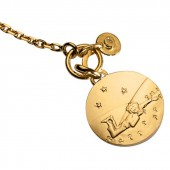 Bracelet Petit Prince couch� dans l'herbe (or jaune 750� et diamant) - La Monnaie de Paris