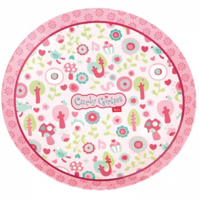 Assiette curly girlies rose