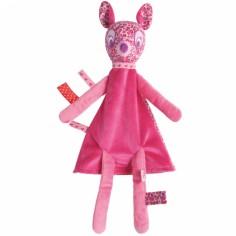 Doudou plat marionnette faon rose Berries - Tuc Tuc