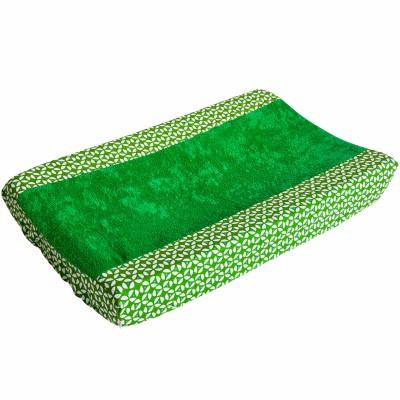 Housse de matelas à langer geo green (45 x 68 cm)