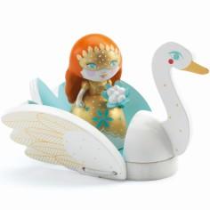Poup�e de plastique princesse Barbara & Ze swan (11 cm) - Djeco