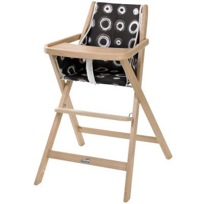 chaise haute pliable traveller bois naturel geuther. Black Bedroom Furniture Sets. Home Design Ideas
