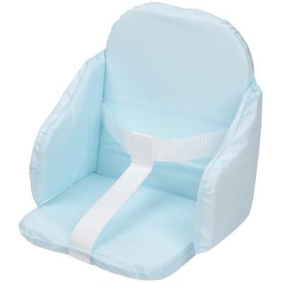 Coussin de chaise pvc à sangles bleu