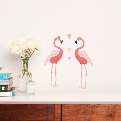 Sticker flamants roses flamingos petit modle love ma for Meubles flamant outlet