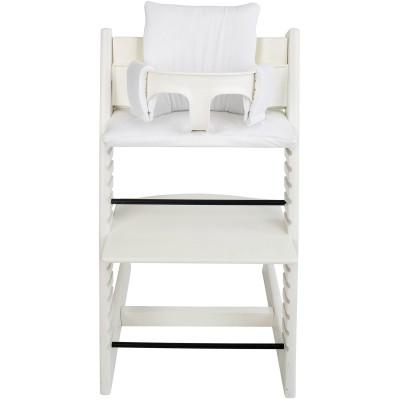 assise piqu white pour chaise haute stokke tripp trapp. Black Bedroom Furniture Sets. Home Design Ideas