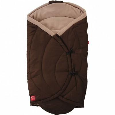 Couverture nomade coo coon marron et beige (0-12 mois)