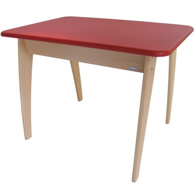 Table en bois bambino rouge geuther berceau magique for Meubles bambino