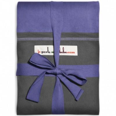 Echarpe de portage l'originale iris poche anthracite