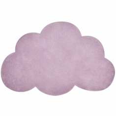 Tapis coton nuage lilas by Sophie Cordier (64 x 100 cm)  - Lilipinso