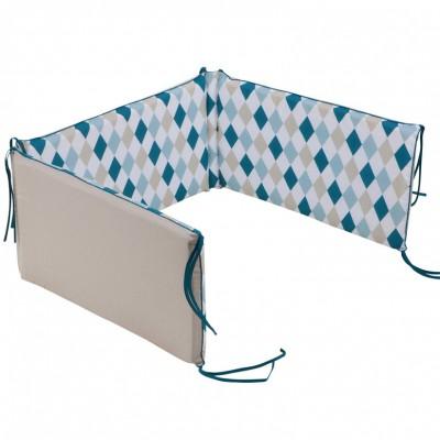 tour de lit b 233 b 233 losanges menthe pour lits 60 x 120 et 70