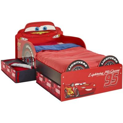 Lit enfant design cars avec tiroirs de rangement 70 x 140 - Lit 140 avec tiroirs rangement ...