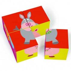 Puzzle cubes Ferme (4 cubes) - Scratch