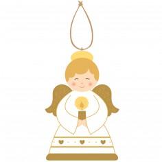 Ange d�coratif bougie en bois - La Ronde des Couleurs