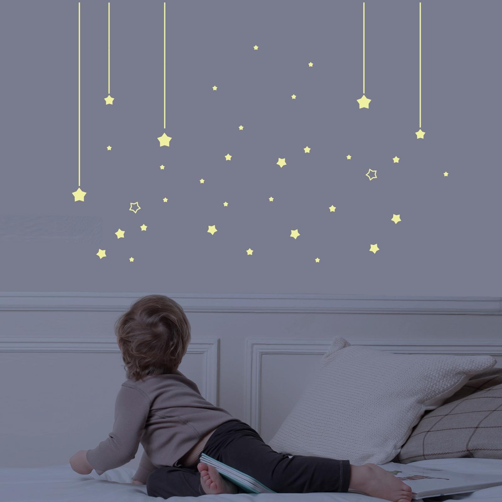 Chambre enfant étoiles : déco thème étoile pour chambre fille