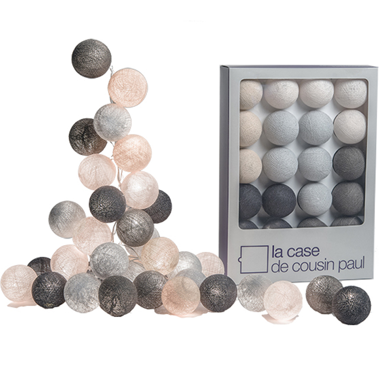 coffret guirlande lumineuse loriginal brooklyn gris perle - Guirlande Electrique Bebe