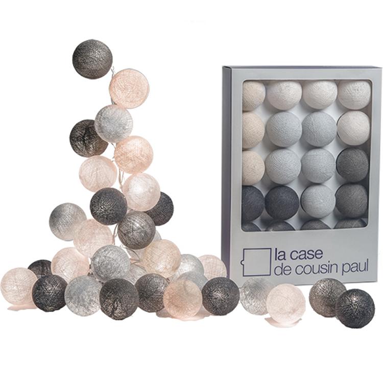 coffret guirlande lumineuse loriginal brooklyn gris perle - Guirlande Lumineuse Chambre Bebe